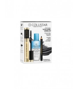 Collistar Kit Mascara Volume Unico + Struccante Addolcente Occhi-Labbra Bifasico 50 ml + Matit Prof. Occhi Nera