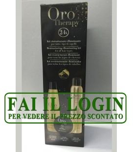 Fanola Oro Therapy Kit Ristrutturante-illuminante - Shampoo + Maschera + Oro di Cheratina