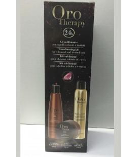 Fanola Oro Therapy Kit Sublimante - Shampoo + Maschera + Oro di Cheratina