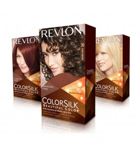 Revlon Colorsilk Shampoo, Farbe, Ohne Ammoniak-20 Mittelbraun, Schwarz