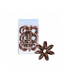 Invisi Bobble 3 Hair Rings Marrone Piccolo