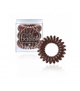 Invisi Bobble 3 Hair Rings Marrone medio