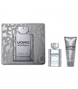 Salvatore Ferragamo Casual Life Uomo Confez. Edt 50 ml + Shampoo e Shower Gel 50 ml