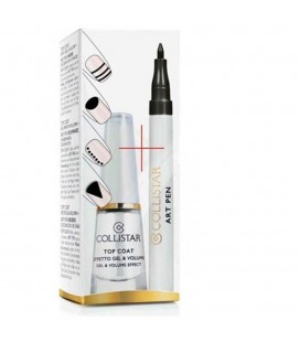 Collistar Top Coat Effetto Gel e Volume + Art Pen Nero