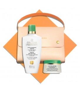 Collistar-Kit Pochette von Piquadro - Milch, Fondant Erhaben 400 ml + Talasso-Scrub Energizing 150 gr