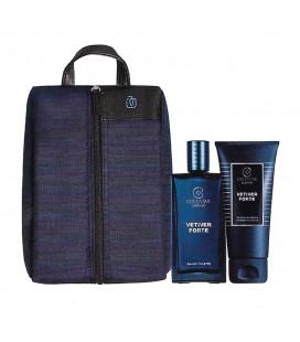 Collistar Travel Bag von Piquadro Kit Vetiver Fortr Edt 50 ml + Shampoo und duschgel 50 ml