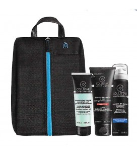 Collistar Travel Bag Piquadro Kit Idratazione Totale 24h 75 ml + Doccia Shampoo 100 ml + Schiuma Barba 75 ml
