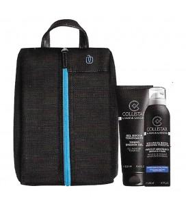 Collistar Travel Bag von Piquadro Kit belebendes duschgel + Schaum Rasieren Empfindliche haut 200 ml