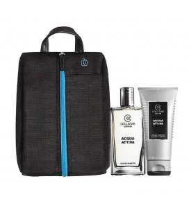 Collistar Travel Bag Piquadro Kit Acqua Attiva Edt 50 ml + Doccia 50 ml
