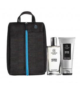 Collistar Travel Bag von Piquadro Kit Aktives Wasser Edt 50 ml + Dusche 50 ml