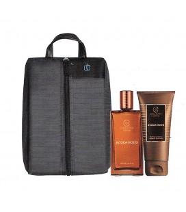 Collistar Travel Bag von Piquadro Acquawood Kit Edt 50 ml + Shampoo und duschgel 50 ml