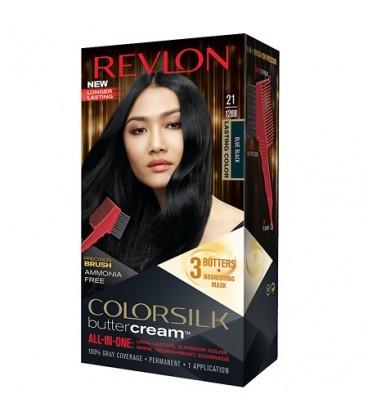 Revlon Colorsilk All-in-one-Shampoo Farbe Ohne Ammoniak, 21 Schwarz-Blau