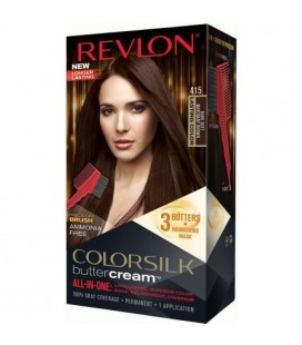 Revlon Colorsilk All in one Shampoo Colore Senza Ammoniaca 415 Castano Mogano Scuro Soft