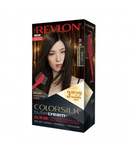 Revlon Colorsilk All in one Shampoo Colore Senza Ammoniaca 30 Nero Castano