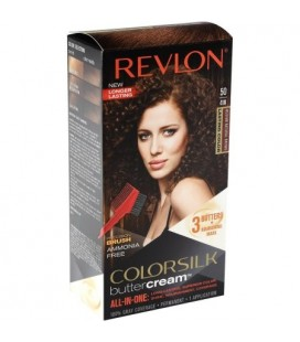 Revlon Colorsilk All in one Shampoo Colore Senza Ammoniaca 50 Castano Medio Naturale